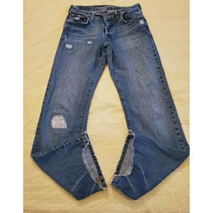 Lucky Brand Dungarees Distressed Boot Cut Jeans